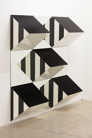 Prisms and Mirrors, high relief - n°XIV by Daniel Buren contemporary artwork