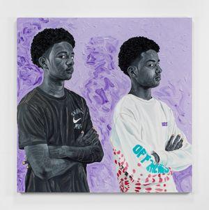 Davonni & Xavier by Otis Kwame Kye Quaicoe contemporary artwork painting