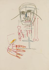 Untitled (Head) by Jean-Michel Basquiat contemporary artwork works on paper, drawing