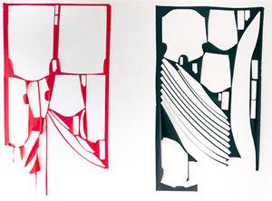 Al di là del tempo. Il rosso e il nero by Marion Baruch contemporary artwork