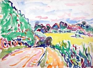 Landschaft mit Bäumen by Ernst Ludwig Kirchner contemporary artwork
