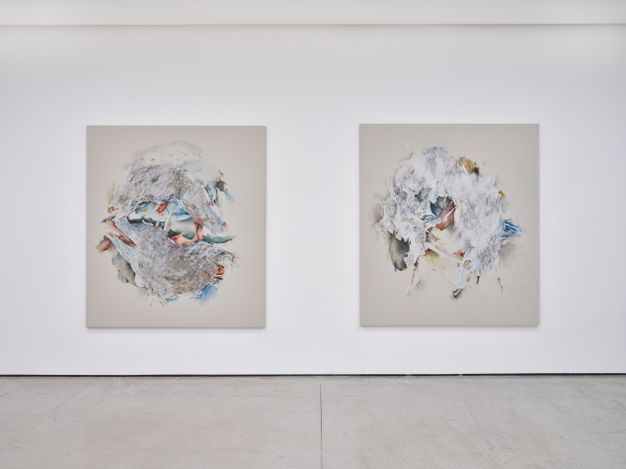Exhibition view: Christine Ay Tjoe, Spinning in the Desert, White Cube Hong Kong (18 May–28 August 2021). © The Artist and White Cube. Photo: Kitmin Lee.