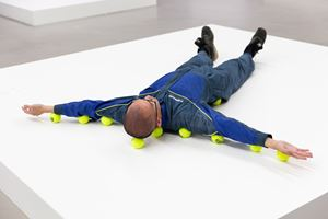 Untitled (Tennis Balls) 無題(網球) by Erwin Wurm contemporary artwork sculpture, performance