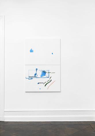 Michael Krebber, ohne Titel (Wirklichkeit erschlägt Kunst) 15(2019). Exhibition view: Michael Krebber,Wirklichkeit erschlägt Kunst, Galerie Buchholz, Berlin (26 April–15 June 2019). Courtesy Galerie Buchholz.