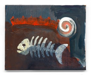 King's Fish by Walter Swennen contemporary artwork