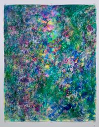 Surrounded by Green by Rie Ono contemporary artwork painting, works on paper