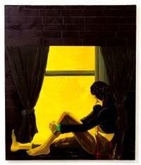 Window Sitter (Daybreak) by Dominic Chambers contemporary artwork painting