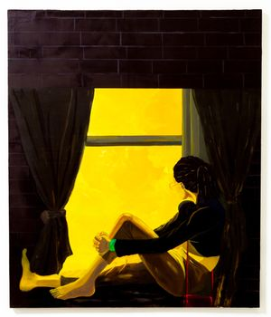 Window Sitter (Daybreak) by Dominic Chambers contemporary artwork