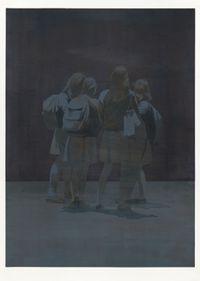 White Skirts (Amerikanische Nacht) by Tim Eitel contemporary artwork drawing