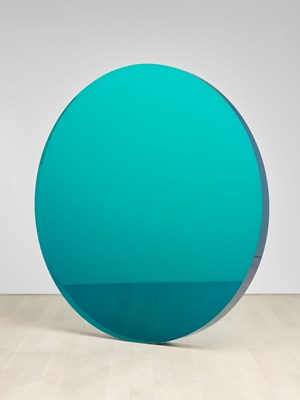 Circle Blue Green by De Wain Valentine contemporary artwork