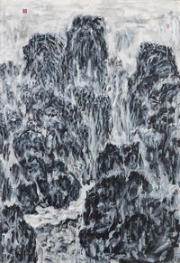 Distant Xishan by Lin Chih Chien contemporary artwork painting