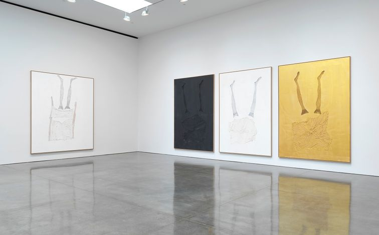 Exhibition view: Georg Baselitz,Springtime, Gagosian, 555 West 24th Street, New York (4 May–12 June 2021). © Georg Baselitz. Courtesy Gagosian. Photo: Rob McKeever.