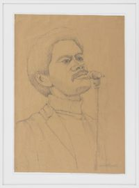 The Chairman of the Board Speaks by Wadsworth Jarrell contemporary artwork works on paper, drawing