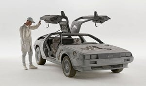 Eroded Delorean by Daniel Arsham contemporary artwork