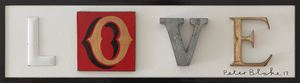 Love (smaller version) by Peter Blake contemporary artwork