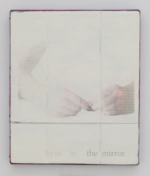 Eyes in the mirror by Lee Kit contemporary artwork