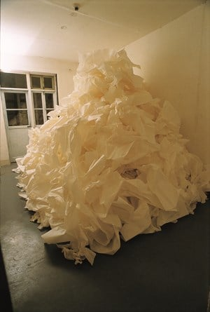 A Pile of Rice Paper (宣纸堆) by Zhu Jinshi contemporary artwork