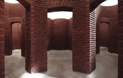 Contemporary art exhibition, Per Kirkeby, Brick Sculptures at Axel Vervoordt Gallery, Antwerp, Belgium
