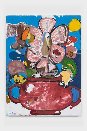 BAP Flower 4 (Baby Sun) by Eddie Martinez contemporary artwork