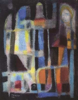 Visitation by Alfred Manessier contemporary artwork