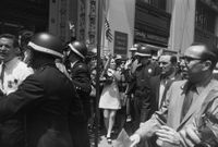 Labor Union Peace Rally, Lower Broadway, New York by Garry Winogrand contemporary artwork sculpture, photography