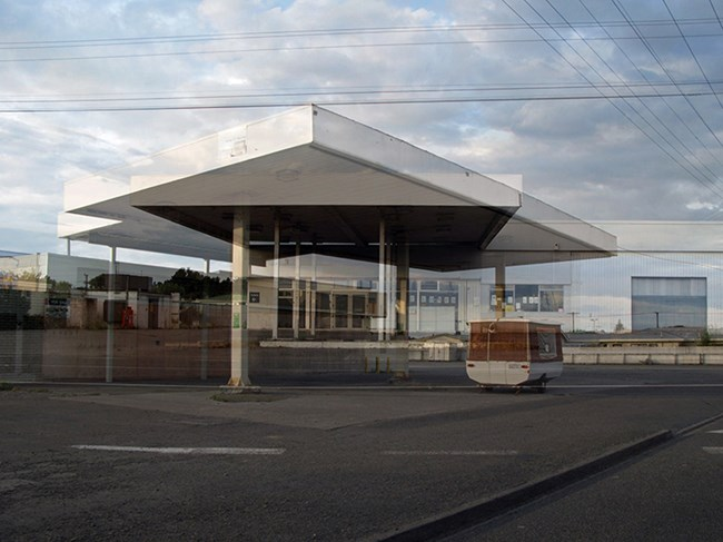 Two Service Stations by Robert Hood contemporary artwork