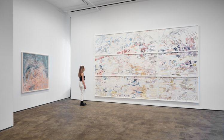 Exhibition view: Janaina Tschäpe,Balancing into the Deep, Sean Kelly Gallery, New York (26 June–6 August 2021). Courtesy Sean Kelly, New York.Photo: Jason Wyche, New York.