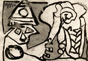 Elephant by Pierre Alechinsky and Karel Appel contemporary artwork
