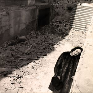 Vicomtesse De Noailles At The Ruins Of The Paris Exposition by Cecil Beaton contemporary artwork