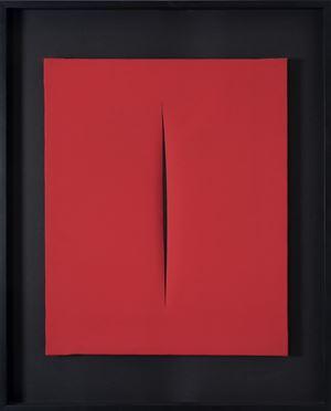 Concetto Spaziale, [Attesa] by Lucio Fontana contemporary artwork