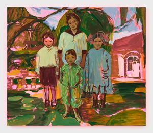The Siblings by Claire Tabouret contemporary artwork