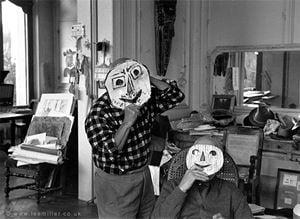 Picasso and Jaime Sabartes, Villa la Californie, Cannes, France by Lee Miller contemporary artwork