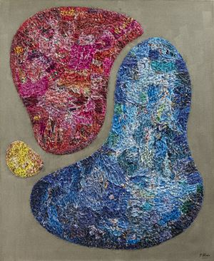 Multicolored Stone VII by Wu Shaoxiang contemporary artwork