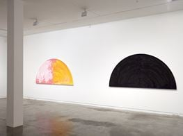 """Gretchen Albrecht<br><em>Between gesture and geometry</em><br><span class=""""oc-gallery"""">Two Rooms</span>"""