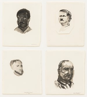 The Politics of Recognition / Onze Vaders by Marlene Dumas contemporary artwork