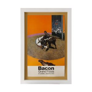 Signed Francis Bacon poster - Grand Palais exhibition by Francis Bacon contemporary artwork