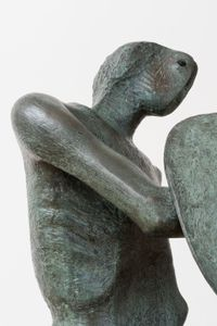 Warrior with Shield by Henry Moore contemporary artwork sculpture