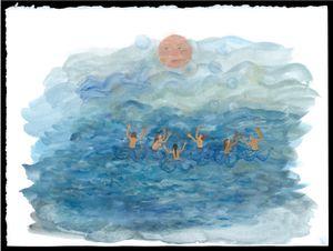 Rivière de larmes by Karine Rougier contemporary artwork