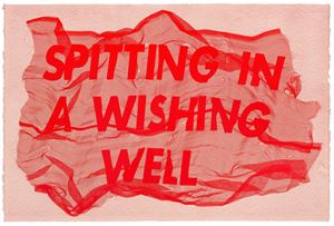 Spitting In A Wishing Well by Raul Walch contemporary artwork