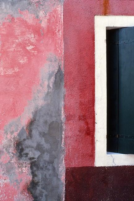 Pink wall green shutter #2 by Robert Owen contemporary artwork
