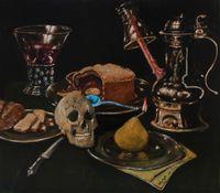 La crème de tartre hollywoodien by Jan Van Imschoot contemporary artwork painting, works on paper