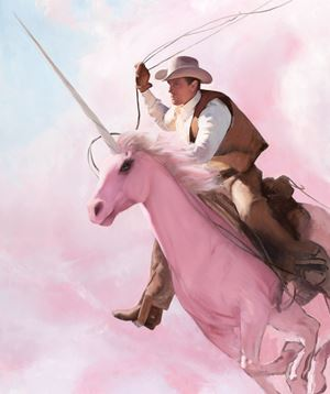 Roping by Will Cotton contemporary artwork