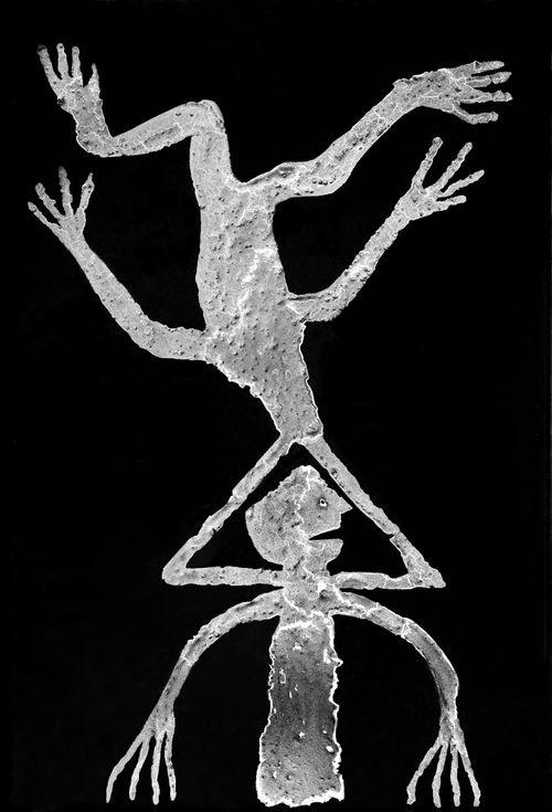 Triangulation by Roger Ballen contemporary artwork