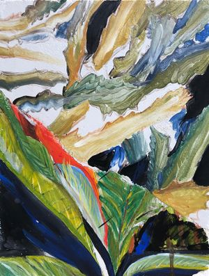 Two seasons by Chafa Ghaddar contemporary artwork painting