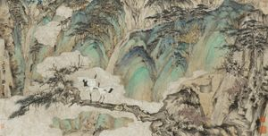 Traces of Immortals by the Jade River 《玉溪仙踪》 by Zheng Li contemporary artwork