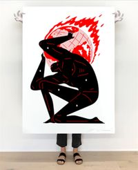 World on Fire (White), 2021 by Cleon Peterson contemporary artwork print