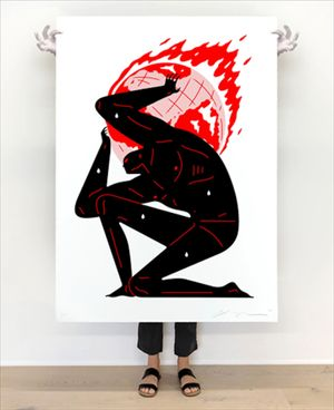 World on Fire (White), 2021 by Cleon Peterson contemporary artwork