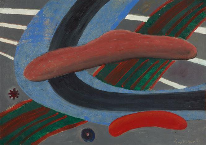 V.N. Joythi Basu, Resurrection Series (Rays 1) (1999). Oil on paper. 48 x 70 cm.Courtesy Galerie Mirchandani + Steinruecke, Mumbai.
