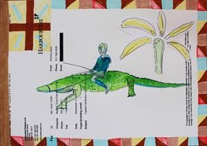 Croc Drive by Carla Busuttil contemporary artwork