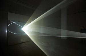 Split Second (Mirror) by Anthony McCall contemporary artwork